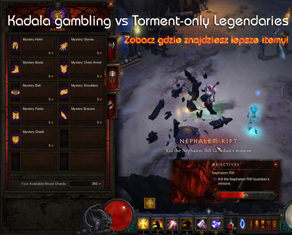 Kadala gambling vs Torment only Legendaries