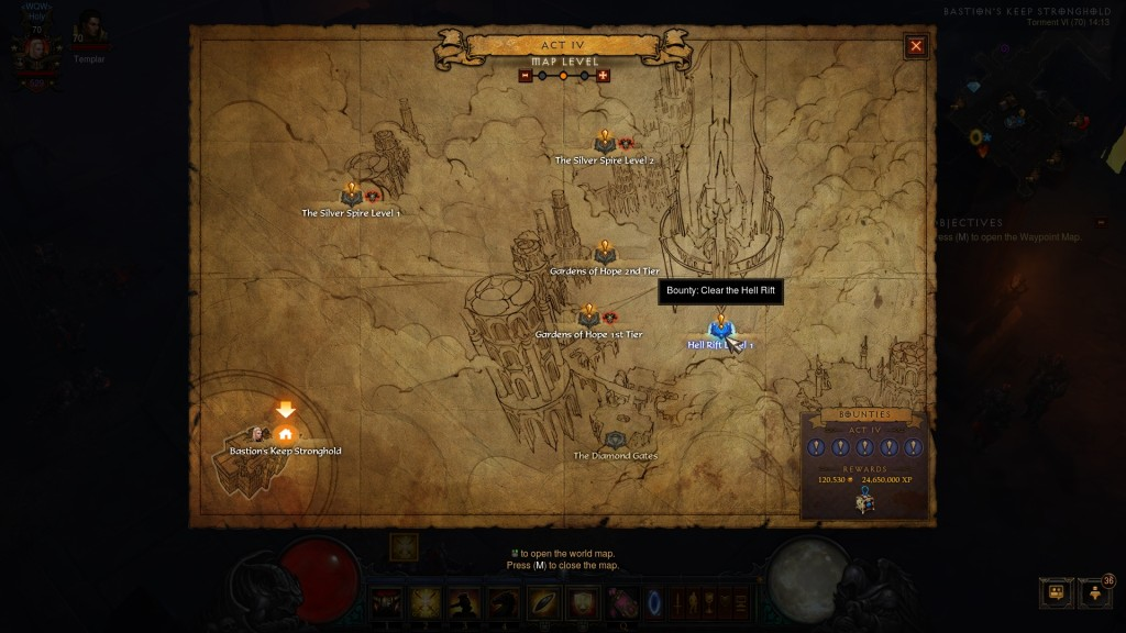bounty clear the hellrift diablo 3